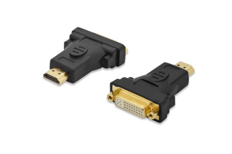 ednet hdmi adapter a zu dvi 3d vergoldete kontakte st bu schwarz cyberport. Black Bedroom Furniture Sets. Home Design Ideas