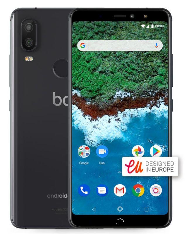 bq Aquaris X2 Pro 4GB/64GB midnight black Dual-SIM Android One 8.1 ...