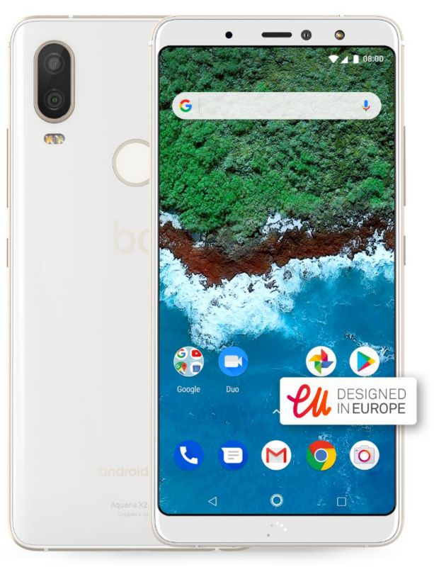 bq Aquaris X2 Pro 4GB/64GB glaze white Dual-SIM Android One 8.1 ...