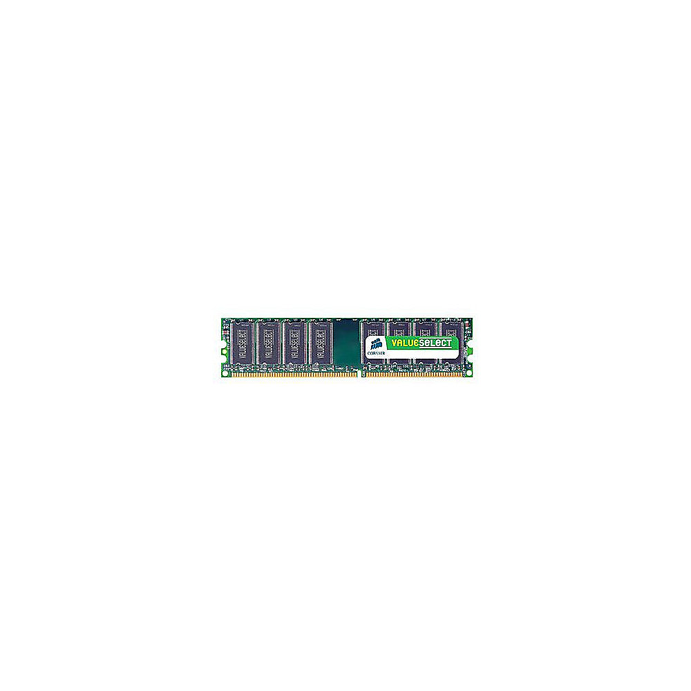 2GB Corsair ValueSelect DDR3-1333 CL9 (9-9-9-24) RAM