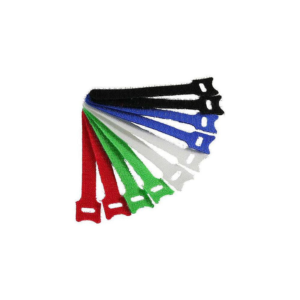 Kabelbinder mit Klett Verschluss 5 versch. Farben (10 Stk.) 12x240mm ...