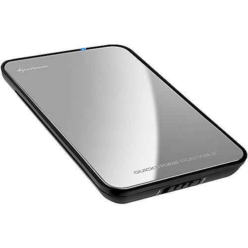 Sharkoon Quickstore Portable USB3.0 2.5 Zoll – Gehäuse verspiegelt | 4044951010219