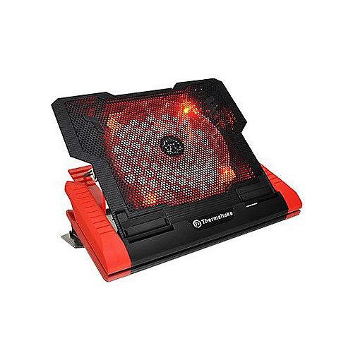 Thermaltake Massive 23 GT Notebook Kühler 2xUSB/miniUSB 200mm Rot LED CLN0019