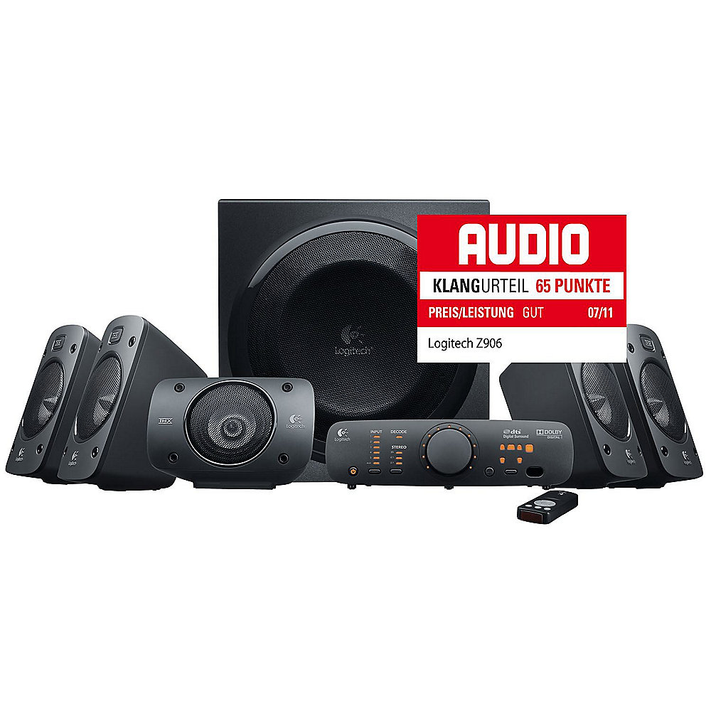 Logitech Z906 5.1 THX Digital Home Cinema Surround Lautsprechersystem  980-000468 ++ Cyberport