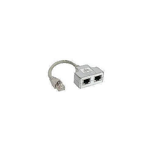ISDN Port-Doppler 1x RJ45 St/2x RJ45 Bu mit Kabel | 4043718058587