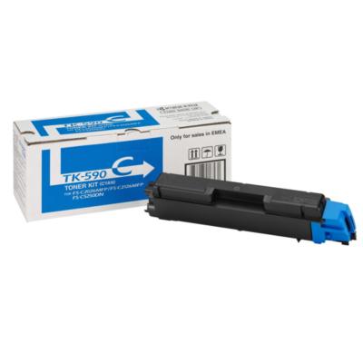 Kyocera  1T02KVCNL0 Toner Cyan TK-590C für ca. 5.000 Seiten | 0632983017531