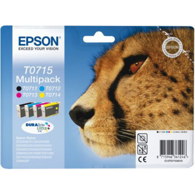 Epson  Druckerpatronen Multipack T0715 / C13T07154012 (BK, C, M, Y)   8715946624563