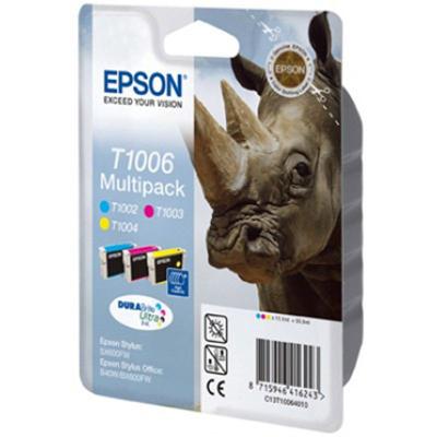 Epson  C13T10064010 Druckerpatrone Multipack (gelb, cyan, magenta) T1006 | 8715946416243