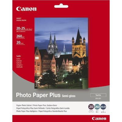 Canon  1686B018 Fotopapier SG-201, seidenmatt, 20 Blatt, 260 g/m² | 4960999405353