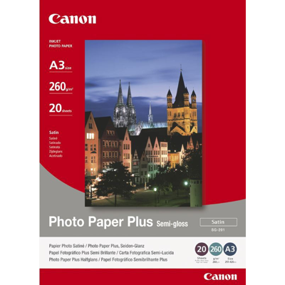 Canon  1686B026 Fotopapier, seidenmatt, A3, 20 Blatt, 260 g/m² | 4960999405421