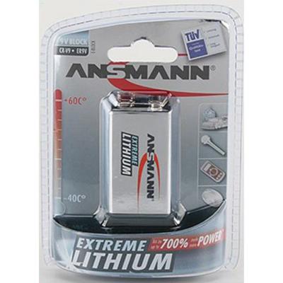 Ansmann  Lithium-Batterie 9V-Block Extreme 1er Blister   4013674003754