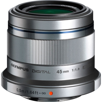 Olympus  M.Zuiko 45mm 1.8 MSC Festbrennweite Objektiv silber | 4545350037093