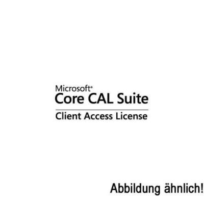 Microsoft  Core CAL Suite Client Access Lizenz 1 User CAL + SA Open-NL   0805529308930