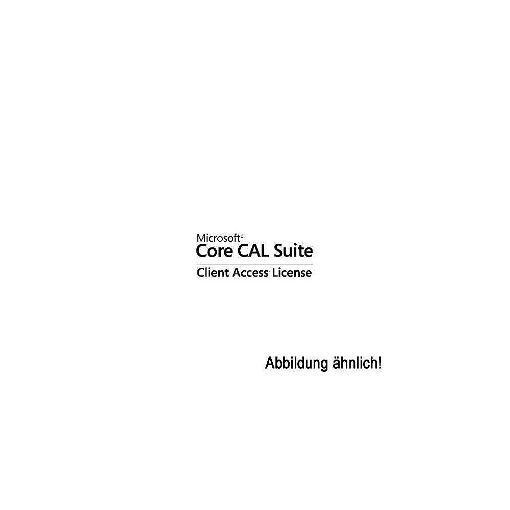 Microsoft Core CAL Suite Client Access License dt. Win Open-NL SA 1 User CAL