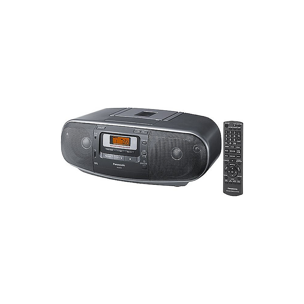 panasonic rx d55 k cd radiorecorder mit kassette usb. Black Bedroom Furniture Sets. Home Design Ideas
