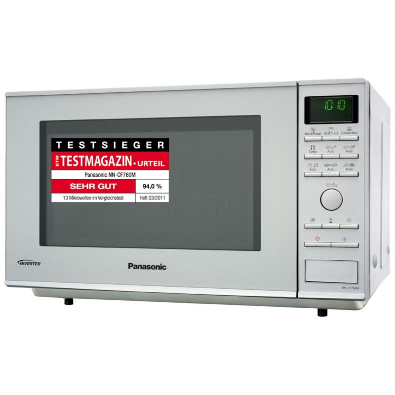 panasonic nn cf760m hei luft inverter mikrowelle silber cyberport. Black Bedroom Furniture Sets. Home Design Ideas
