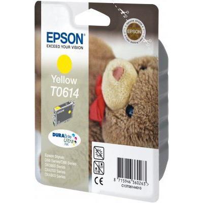 Epson  C13T06144010 Druckerpatrone T0614 pigmentiertes gelb | 8715946360263