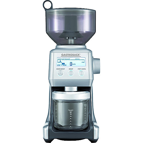 Gastroback 42639 Design Kaffeemühle Advanced Pro + 1kg Lavazza Kaffeebohnen |
