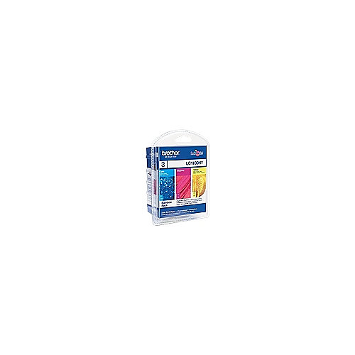 Brother LC1100HY Druckerpatrone Multipack (gelb, cyan, magenta)