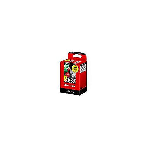Lexmark 80D2951 Druckerpatrone schwarz Nr. 32 + (cyan, magenta, gelb) Nr. 33 | 0734646052467