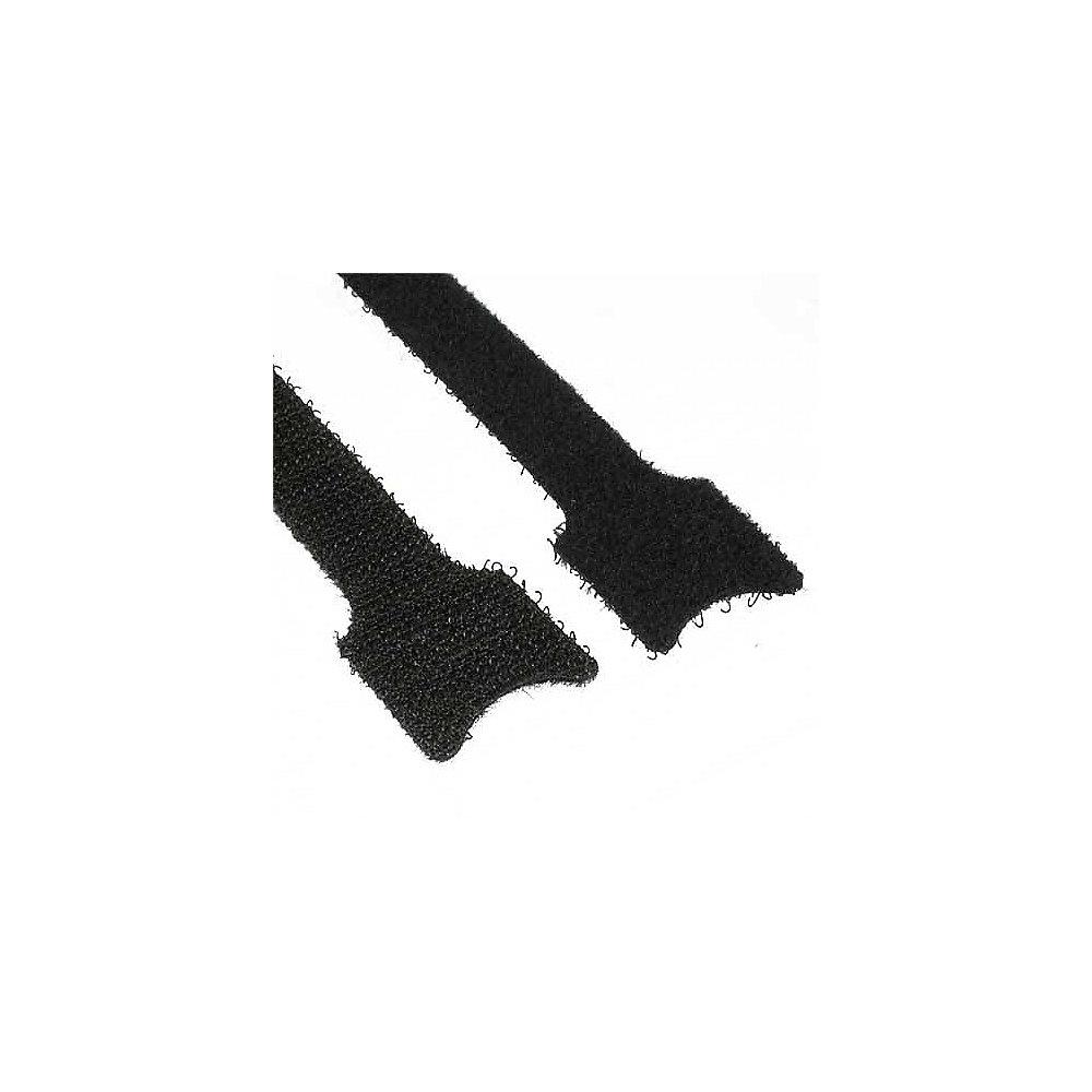 Kabelbinder mit Klett Verschluss schwarz (10 Stk.) 12x150mm ++ Cyberport