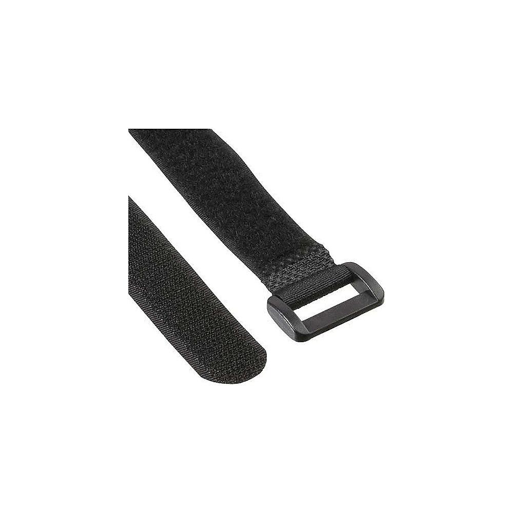 Kabelbinder mit Klettschlaufe schwarz (10 Stk.) 20x500mm ++ Cyberport