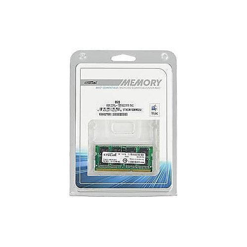 8GB Crucial DDR3-1333 CL9 PC3-10600 SO-DIMM 1,35 V   0649528762320