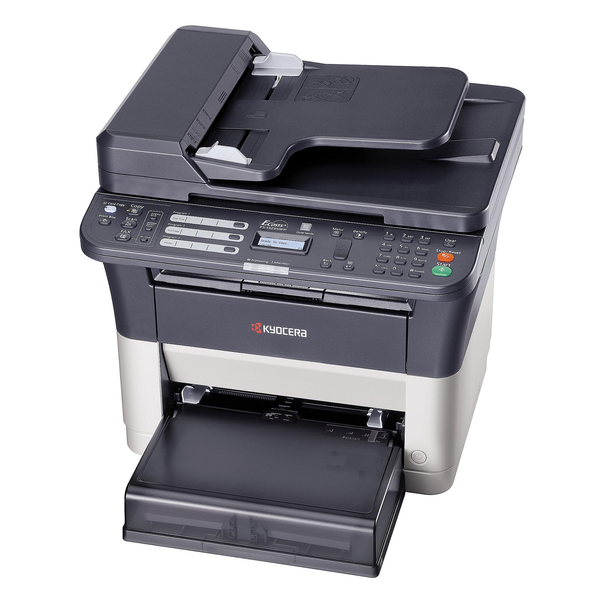 kyocera fs 1325mfp s w laserdrucker scanner kopierer fax lan 3 jahre garantie cyberport. Black Bedroom Furniture Sets. Home Design Ideas