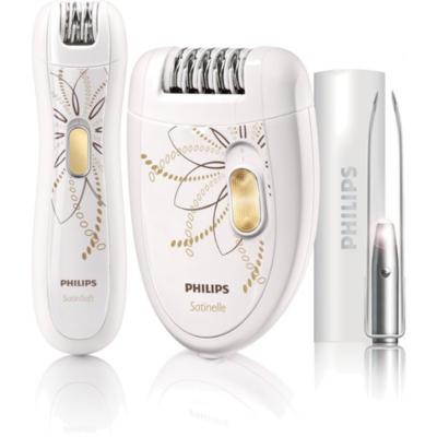 Philips  HP6540/00 Epilierer and Bikinitrimmer and Pinzetten-Set | 8710103693741