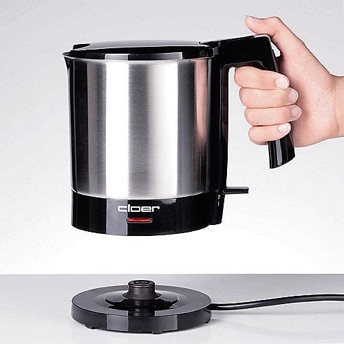 Cloer 4700 Wasserkocher 1,5 Liter Schwarz-Edelstahl | 4004631000589