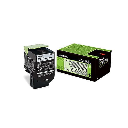 Lexmark 702HK Rückgabe-Toner Schwarz für ca. 4.000 Seiten | 0734646436885