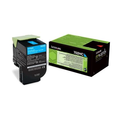 Lexmark  702HC Rückgabe-Toner Cyan für ca. 3.000 Seiten | 0734646436793
