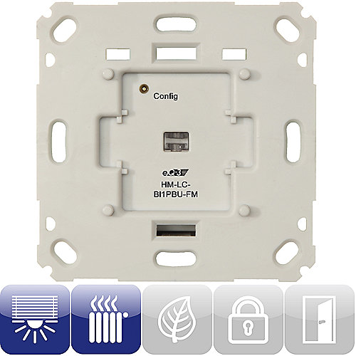 HomeMatic 103038 Funk-Rollladenaktor 1-fach Markenschalter HM-LC-Bl1PBU-FM