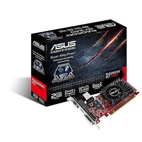 Asus AMD Radeon R7 240 2GD3-L2GB DDR3 DVI/HDMI/VGA Low Profile | 4716659597704