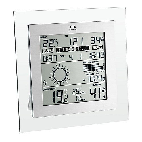CPKA74-01C TFA 35.1121 Square Plus Funk-Wetterstation