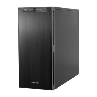 Cooltek  Antiphon Black – Midi Tower Gehäuse  – USB3.0 schallgedämmt (o.NT) | 4250140357601