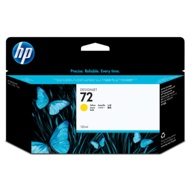 HP  72 Original Druckerpatrone gelb mit hoher Kapazität C9373A | 0808736779821