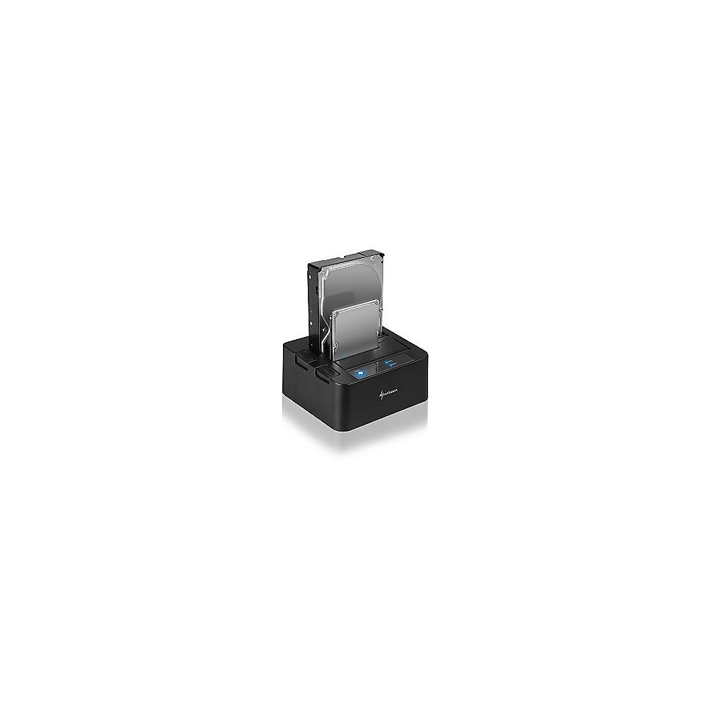 Sharkoon SATA QuickPort Dual-Docking Station USB3.0 Anschluss