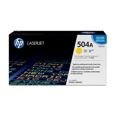 HP  CE252A Original Tonerkassette 504A  gelb   0883585595716