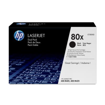 HP  CF280XD 2x Original Tonerkassette 80X schwarz mit hoher Kapazität | 0886112379643