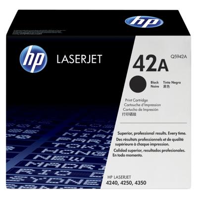 HP  Q5942A Original Tonerkassette 42A schwarz | 0829160221755
