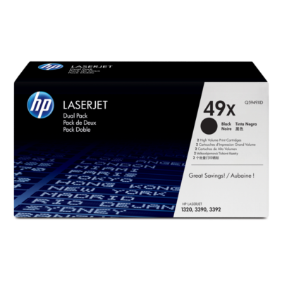 HP  Q5949XD 2x Original Tonerkassette 49X schwarz mit hoher Kapazität   0882780984912