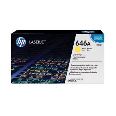 HP  CF032A Original Tonerkassette 646A gelb   0884962601310