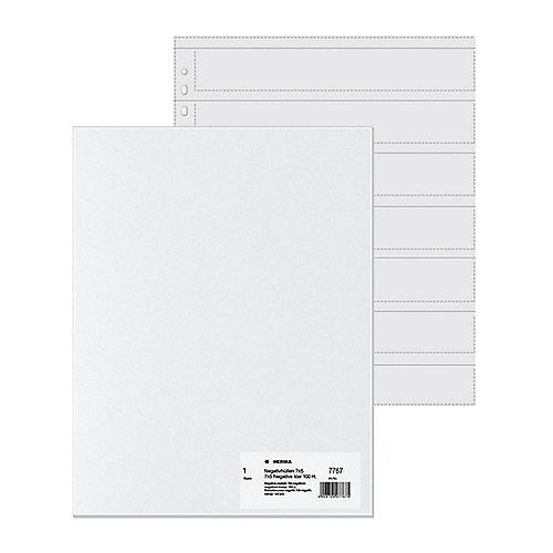 HERMA 7767 Negativhüllen, transparent, für 7 x 5 Streifen, 100 St. | 4008705077675
