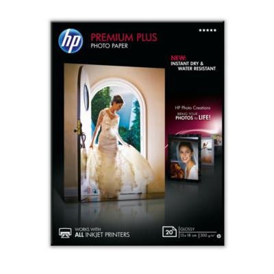 HP  CR676A Premium Plus Fotopapier glänzend, 20 Blatt, 13 x 18 cm, 300g/qm | 0886111138913