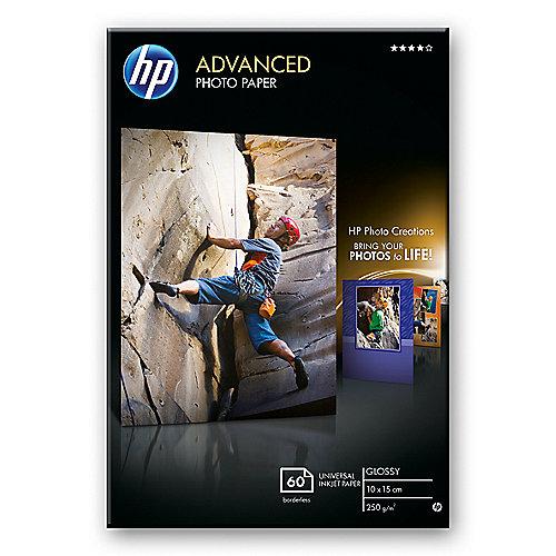 Q8008A Advanced Fotopapier hochglänzend, 60 Blatt, 10 x 15 cm, 250 g/qm | 0882780349568