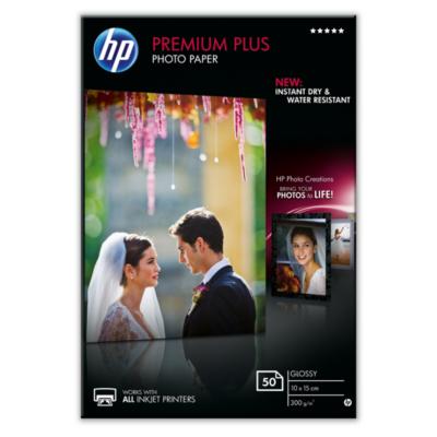 HP  CR695A Premium Plus Fotopapier glänzend, 50 Blatt, 10 x 15 cm, 300 g/qm | 0886111408757