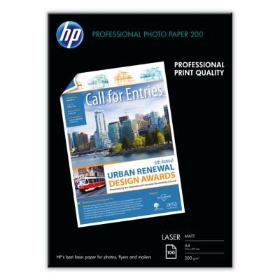 HP  Q6550A Professional Laser Fotopapier matt, 100 Blatt, DIN A4, 200 g/qm | 0829160166971