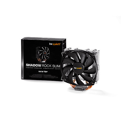 be quiet! Shadow Rock Slim 775/115X/1366/2011/AM2(+)/AM3(+)/FM1/FM2 CPU Kühler