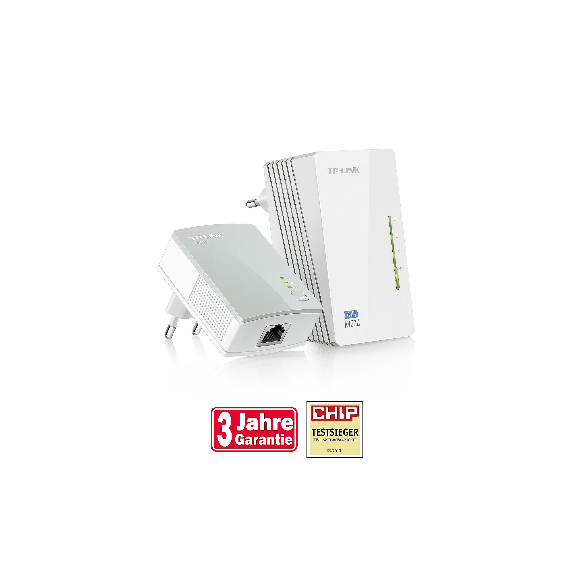 TP-LINK 300Mbps-AV500-WLAN-Powerline-Extender Kit mit 2 Fast-Ethernet-Ports